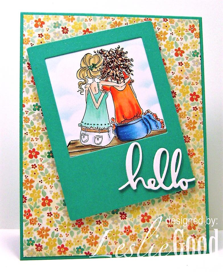 Bellarific Friday STAMP OF THE MONTH UPTOWN GIRLS BELINDA and BERNADETTE-card made by Leslie Good