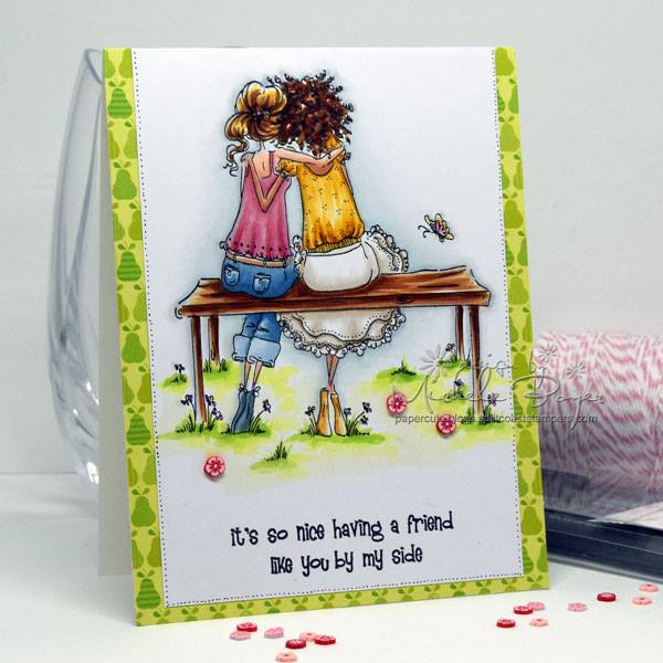 Bellarific Friday STAMP OF THE MONTH UPTOWN GIRLS BELINDA and BERNADETTE-card made by Michele Boyer