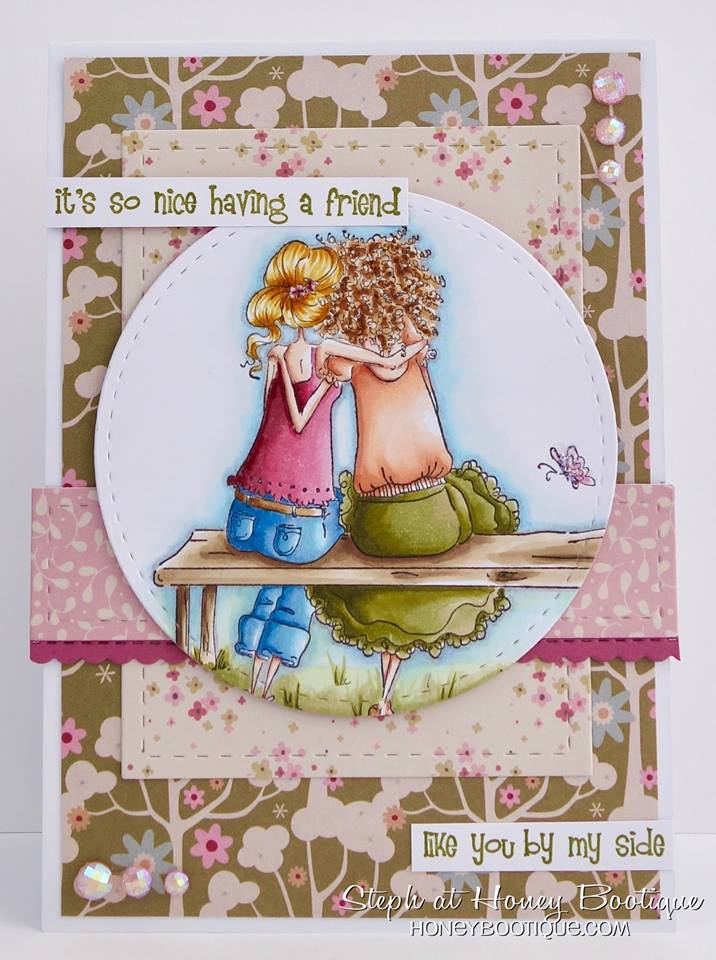Bellarific Friday STAMP OF THE MONTH UPTOWN GIRLS BELINDA and BERNADETTE-card made by Stephanie Hill