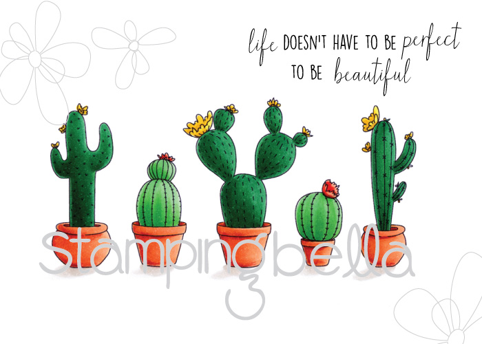 Stamping Bella Spring 2017 release -CACTI rubber stamp