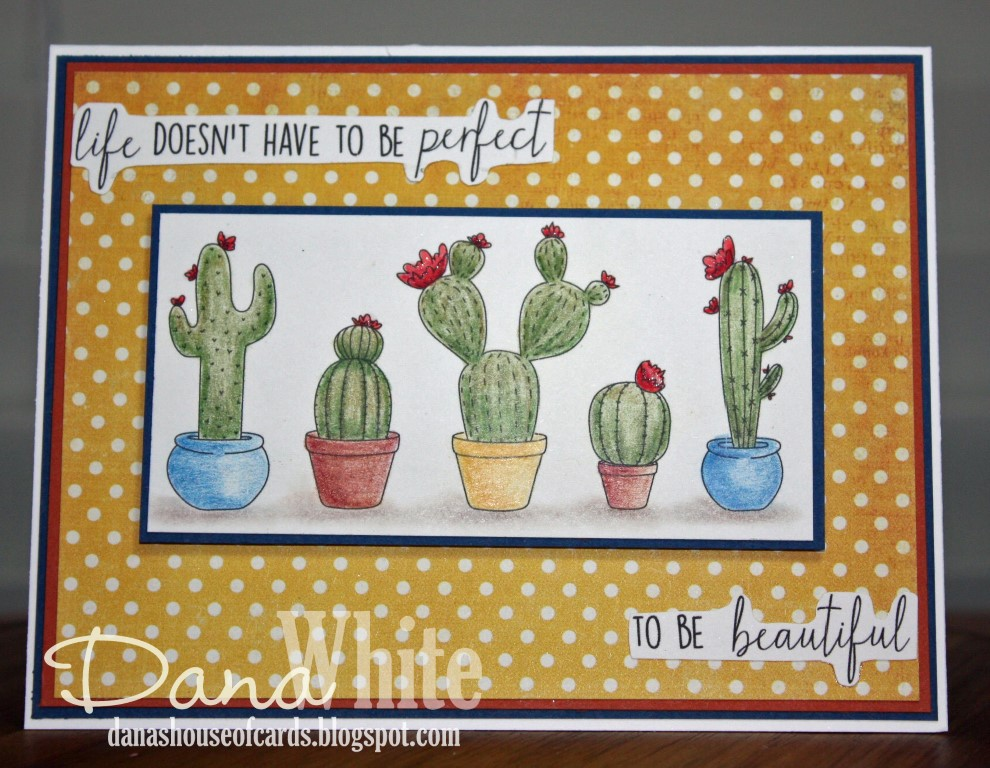 Stamping Bella Spring 2017 release -CACTI rubber stamp. CARD by DANA WHITE