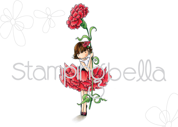 Stamping Bella Sneak Peek March 2017- TINY TOWNIE GARDEN GIRL CARNATION