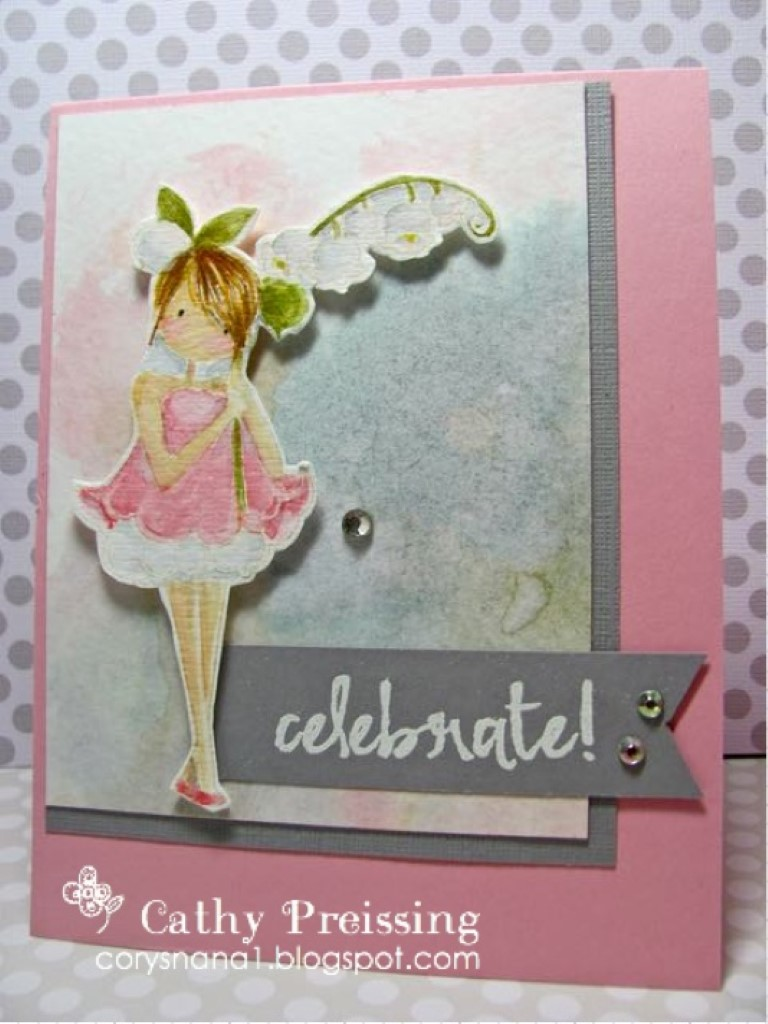 Bellarific Friday by Stamping Bella MARCH 31 2017- TINY TOWNIE GARDEN GIRL LILY OF THE VALLEY rubber stamp