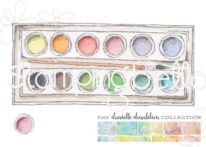 Danielle's SWATCH KIT- CIRCLE PALETTE with BRUSH
