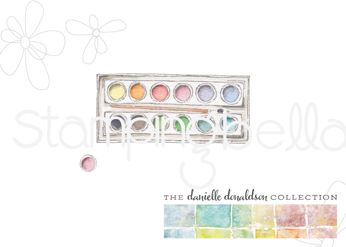 Danielle's SWATCH KIT- CIRCLE PALETTE with BRUSH -MINI