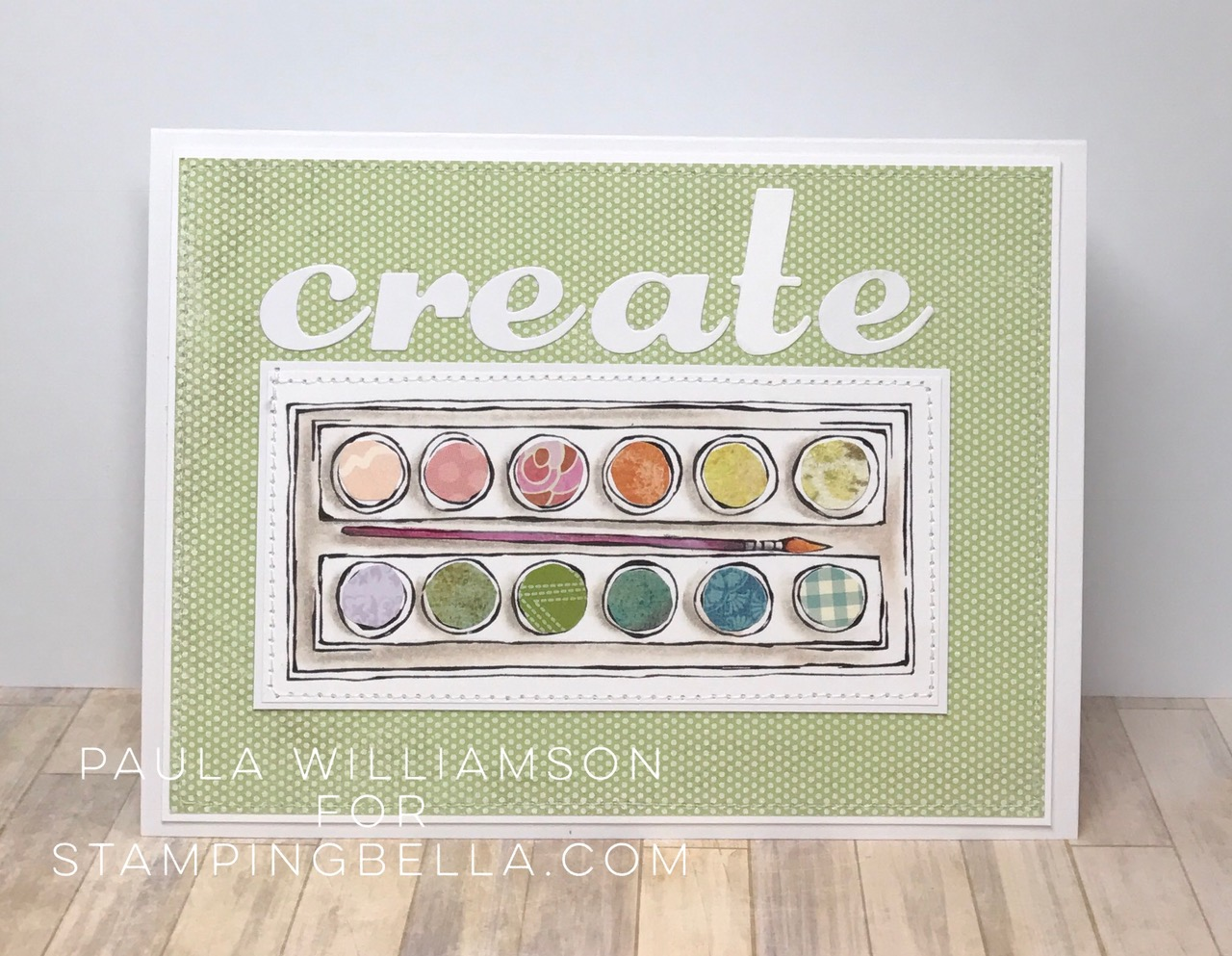 Danielle's SWATCH KIT- CIRCLE PALETTE with BRUSH- CARD BY PAULA WILLIAMSON