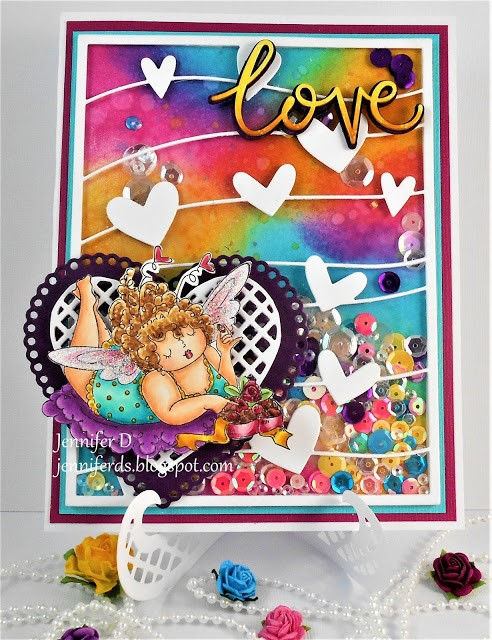 Stamping Bella WONDERFUL WEDNESDAYS WITH JENNY DIX- Rubber stamp used- EDNA LOVES CHOCOLATE
