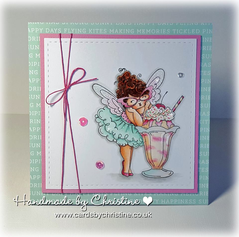 Bellarific Friday INSPIRATION PHOTO CHALLENGE- RUBBER STAMP USED: EDNA LOVES ICE CREAM , CARD MADE BY CHRISTINE LEVISON