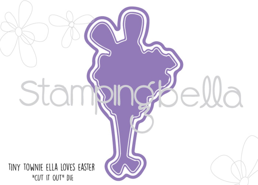 "Stampingbella SPRING 2017 RELEASE- TINY TOWNIE ELLA loves EASTER ""CUT IT OUT"" DIE"