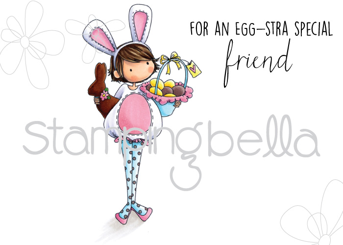 Stampingbella SPRING 2017 RELEASE- TINY TOWNIE ELLA loves EASTER RUBBER STAMP