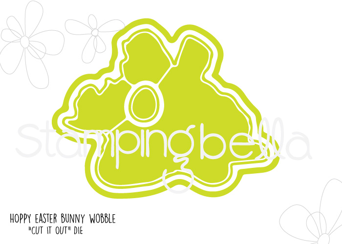 "Stampingbella SPRING 2017 RELEASE-HOPPY EASTER BUNNY WOBBLE ""CUT IT OUT"" die"