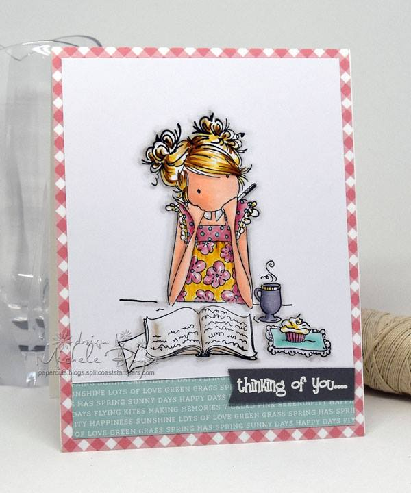 Bellarific Friday INSPIRATION PHOTO CHALLENGE- RUBBER STAMP USED: UPTOWN GIRL JAYDEN loves to JOURNAL , CARD MADE BY MICHELE BOYER