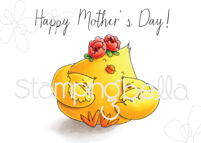 Stamping Bella MARCH 2017 release - MOTHER'S DAY CHICK rubber stamp