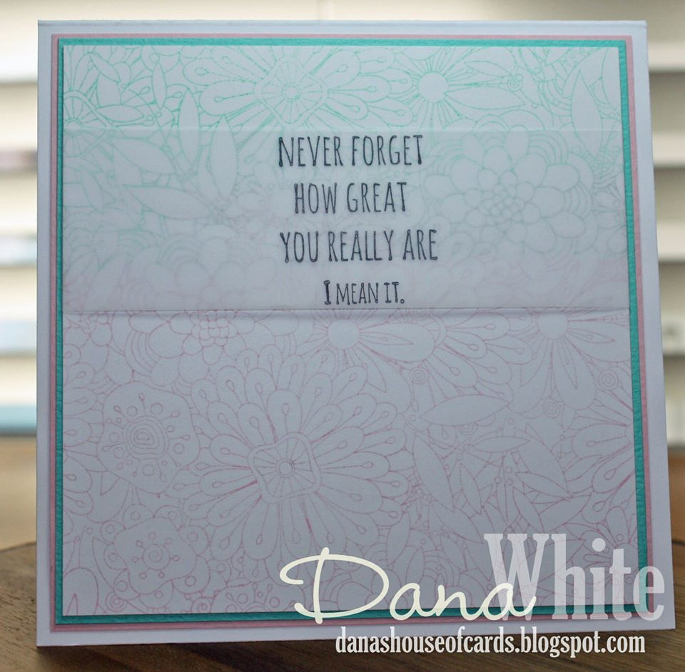 Stamping Bella BELLARIFIC FRIDAY - Rubber stamp used SOMETIMES PEOPLE FORGET card by DANA WHITE