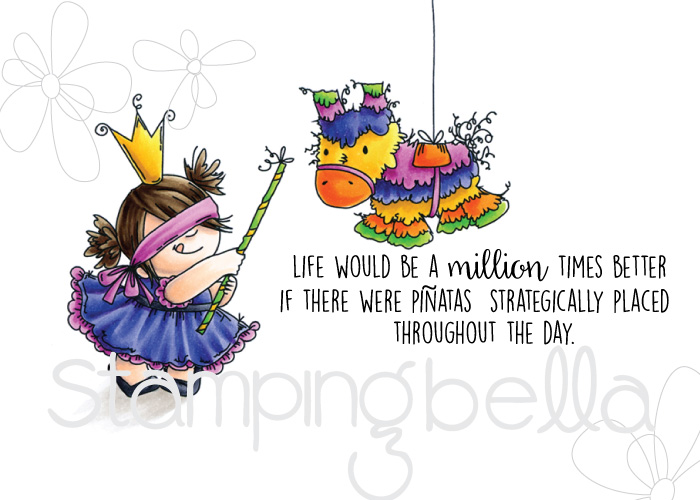 Stamping Bella SPRING 2017 RELEASE- PINATA squidgy RUBBER stamp
