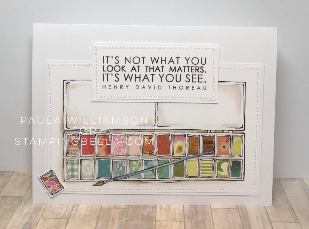Danielle's SWATCH KIT- RECTANGULAR PAINT PALETTE LARGE. Card made by Paula Williamson