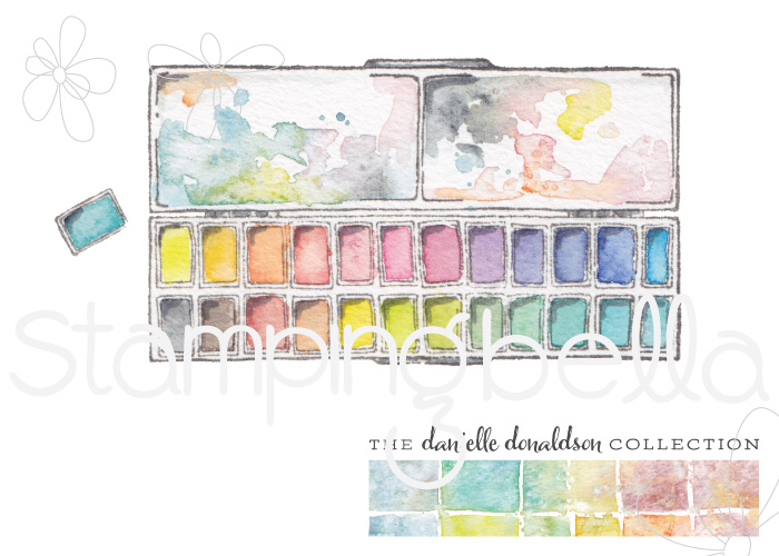 Danielle's SWATCH KIT- RECTANGULAR PAINT PALETTE LARGE