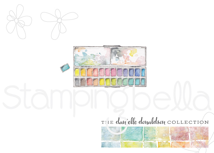 Danielle's SWATCH KIT- RECTANGULAR PAINT PALETTE MINI