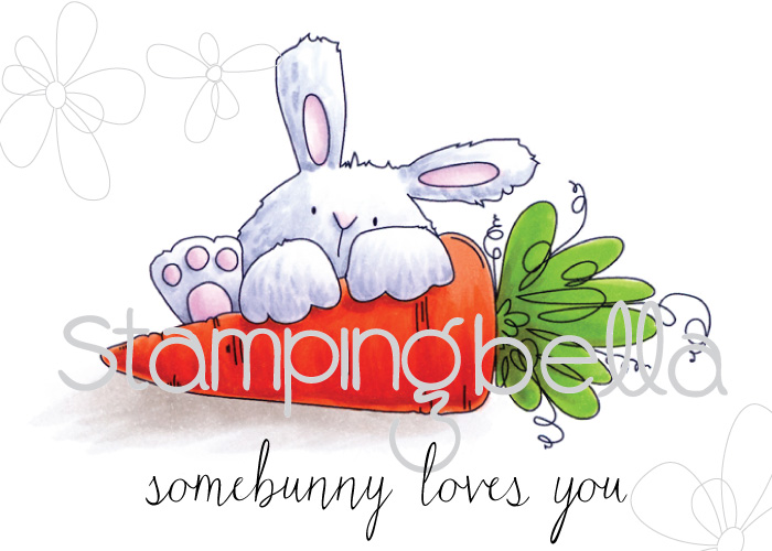 Stampingbella SPRING 2017 RELEASE- SOMEBUNNY loves YOU RUBBER STAMP