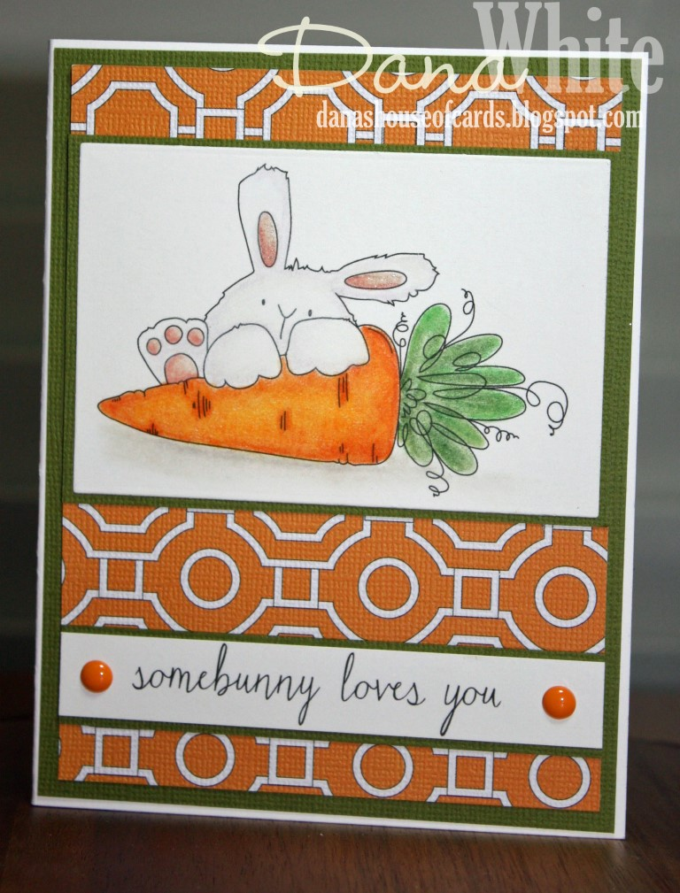 Stampingbella SPRING 2017 RELEASE- SOMEBUNNY loves YOU RUBBER STAMP. Card by Dana White