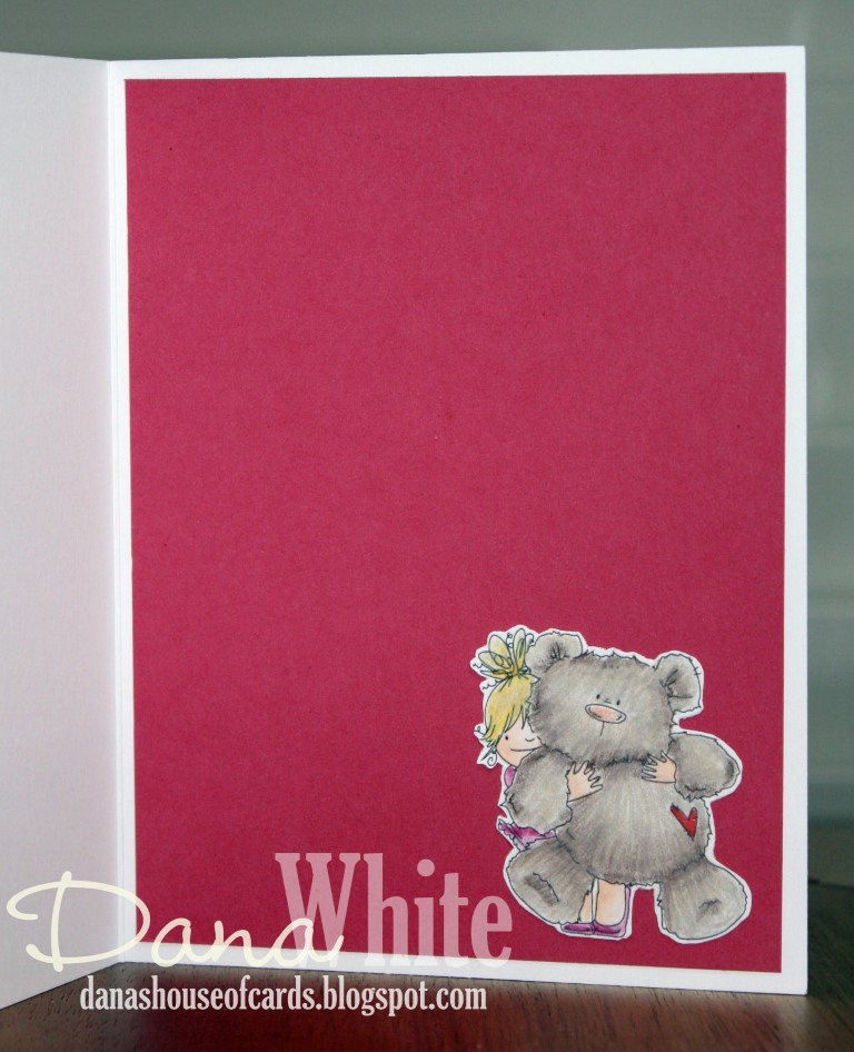 Stamping Bella MARCH 2017 release- SQUIDGY and TEDDY RUBBER STAMP. Card by Dana White