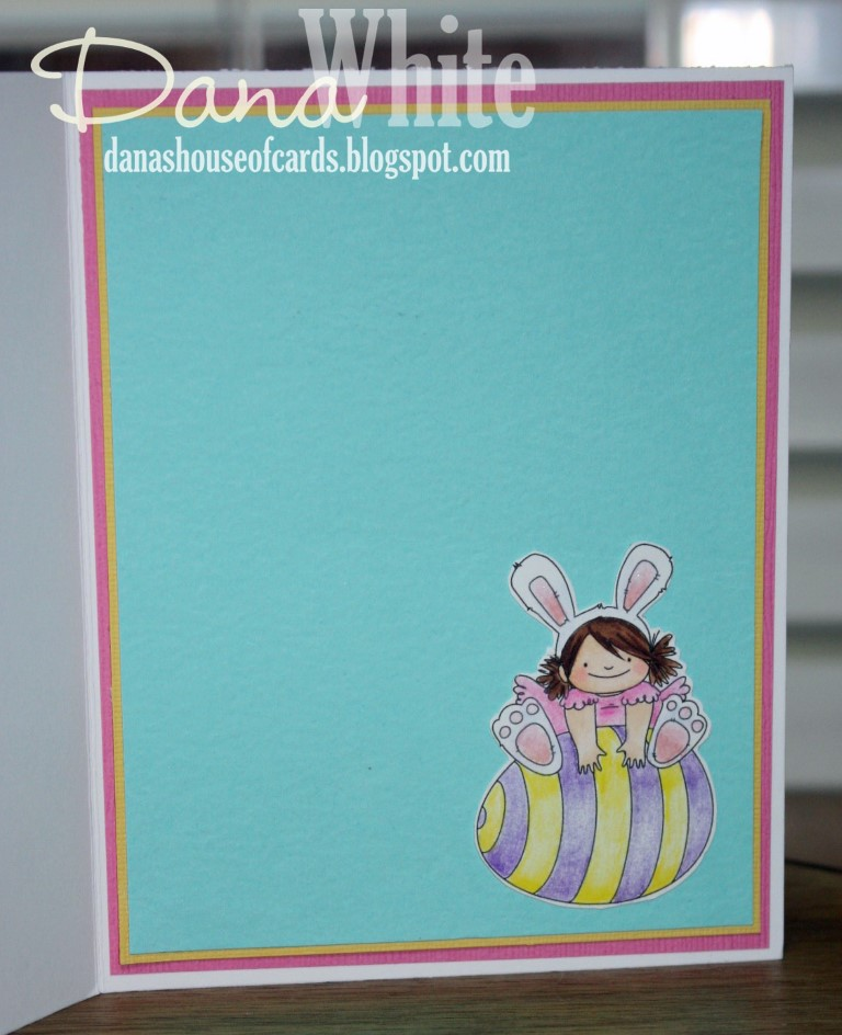 Stampingbella SPRING 2017 RELEASE-SQUIDGY EASTER TRIO rubber stamp. Card by Dana White