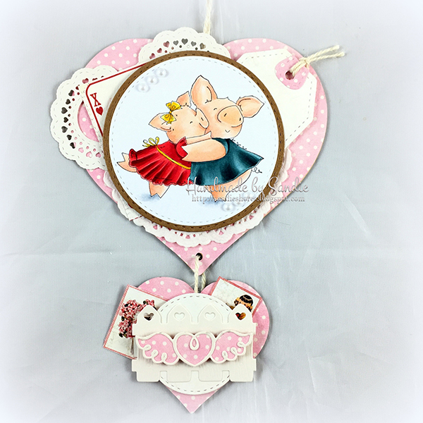 Stamping Bella DT Thursday: Create a Hanging Heart Wall Ornament with Sandiebella!
