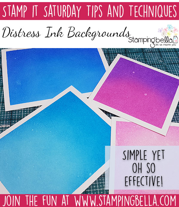 Stamping Bella Stamp It Saturday - Distress Ink Backgrounds with Elaineabella