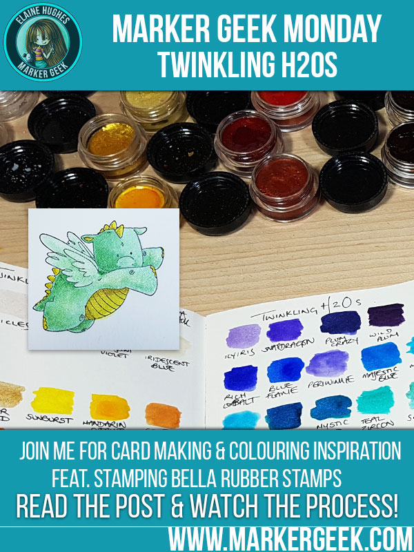 Stamping Bella: Marker Geek Monday Twinkling H20s