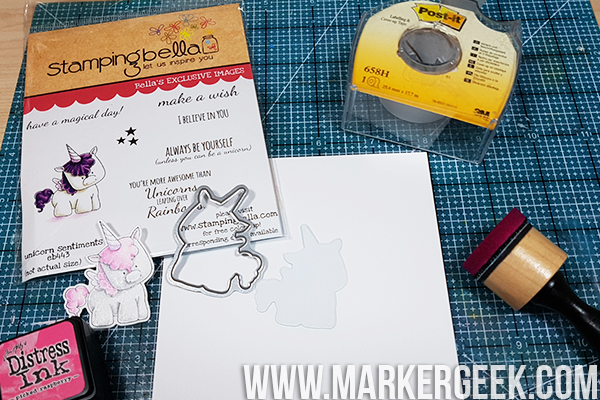 Stamping Bella Stamp It Saturday - Die Cut Masking & Distress Ink Backgrounds with Elaineabella
