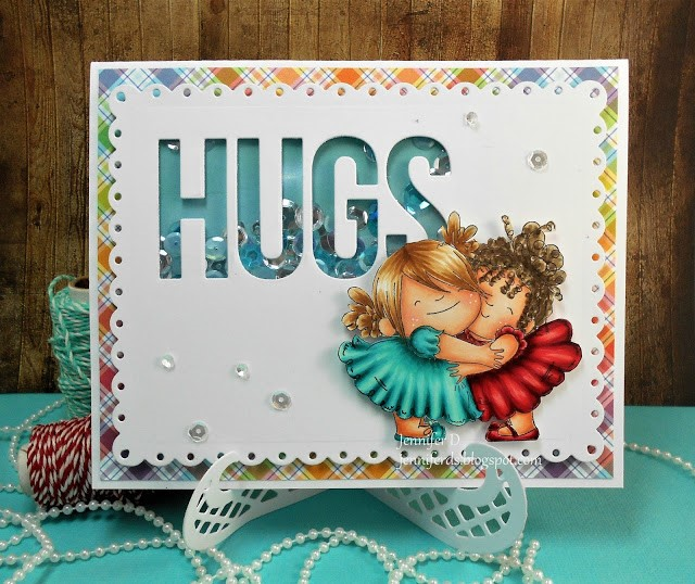 wonderful wednesdays with Stamping Bella- Rubber stamp used: HUGGY SQUIDGIES  card made by Jenny Dix