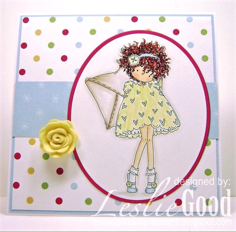 Bellarific Friday with Stamping Bella - rubber stamp uised: TINY TOWNIE LACEY HAS A LETTER card by LESLIE GOOD