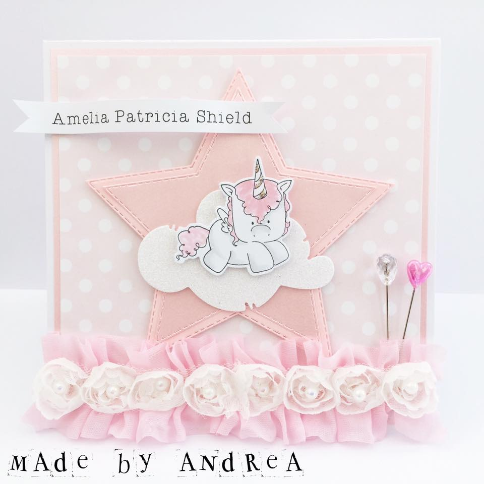 Spotted On Sunday - Stamping Bella Unicorn Card by Andrea Gourley