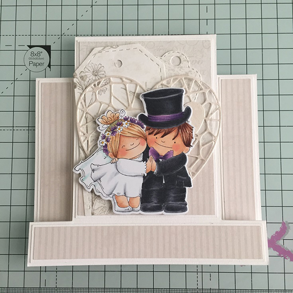 Stamping Bella DT Thursday Create a Centre Step Wedding Card with Sandiebella
