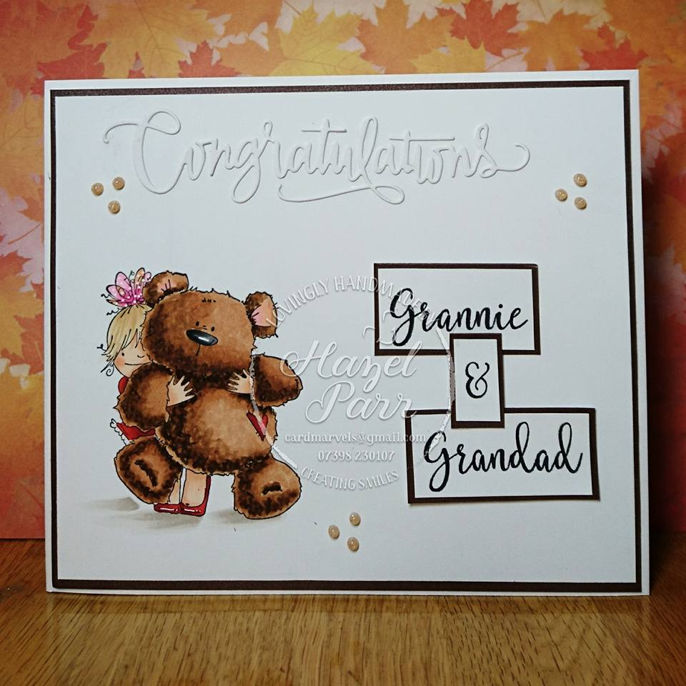 Stamping Bella - Squidgy and Teddy Card by Hazel Parr