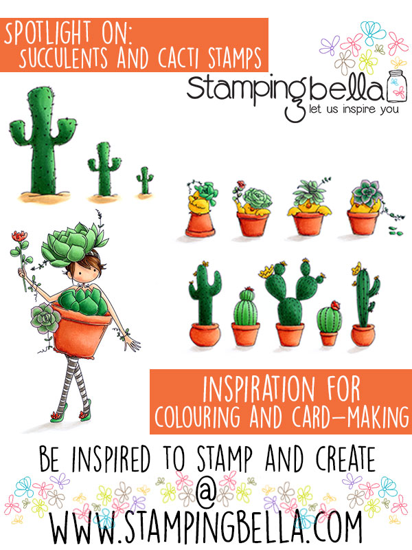 Stamping Bella Spotlight On Succulent and Cacti Stamps