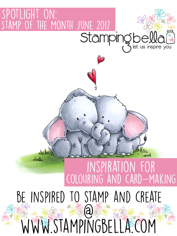 Stamping Bella Spotlight On June 2017 Stamp of the Month - Ellie Loves Phant Stuffies