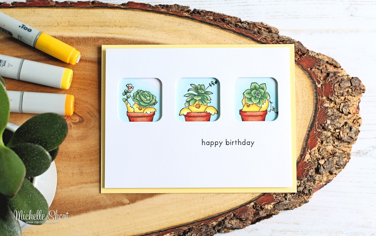 Wonderfuil wednesdays with Michelle Short- Rubber stamp used SUCCULENT CHICKS