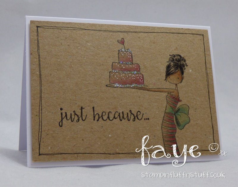 It's BELLARIFIC FRIDAY May 19th 2017-rubber stamp used UPTOWN GIRL BRITTANY THE BIRTHDAY GIRL card made by FAYE WYNN JONES