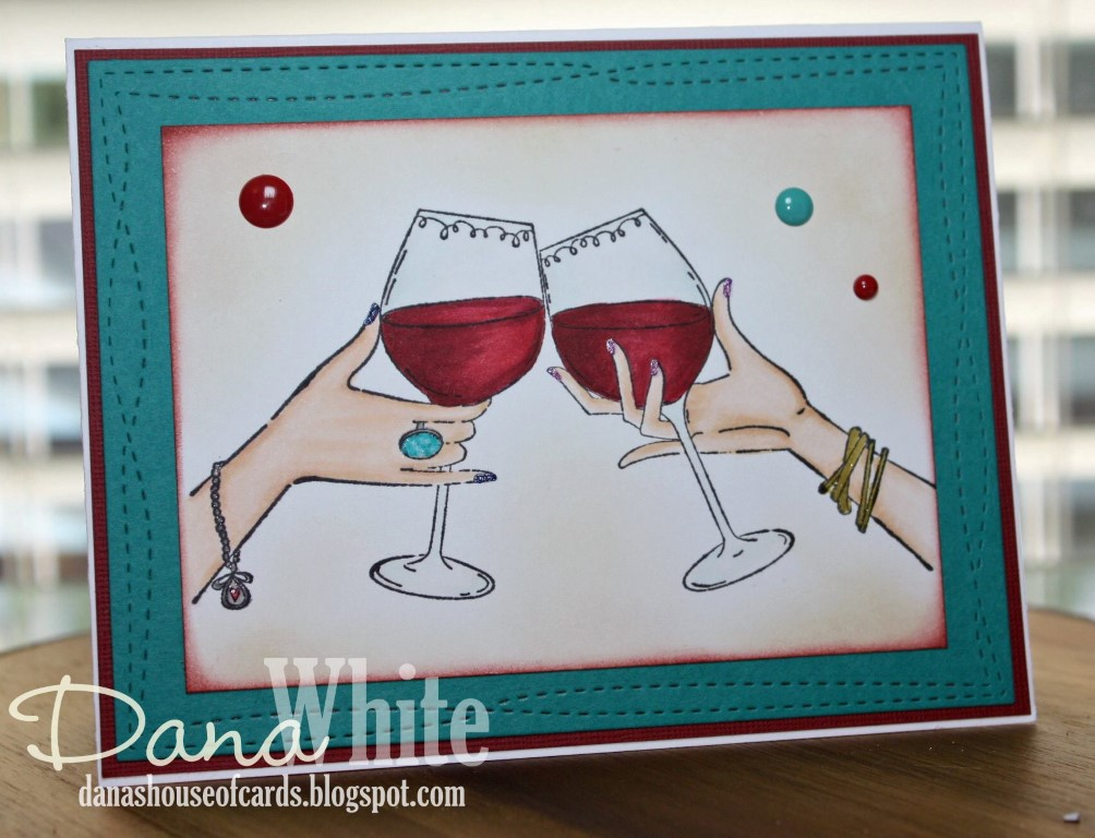 "Bellarific Friday May 25th 2017- PHOTO CHALLENGE- Rubber stamp used : ""CLINK"" card made by Dana White"