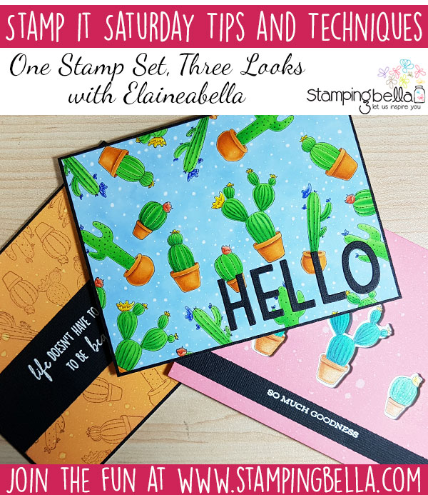 Stamping Bella Stamp It Saturday: One Stamp Set, Three Looks feat. Cacti