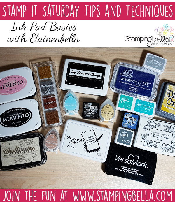 Stamping Bella Stamp It Saturday - Ink Pad Basics with Elaineabella