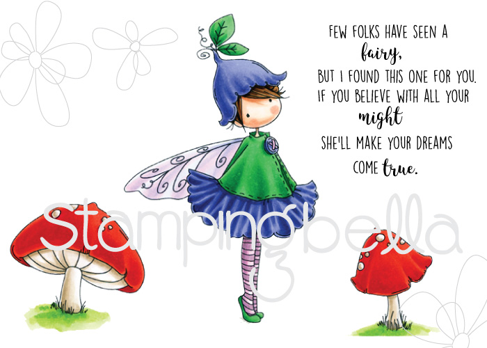 Stamping Bella SUMMER 2017 RELEASE- RUBBER STAMP : TINY TOWNIE FAIRY GARDEN FAIRY