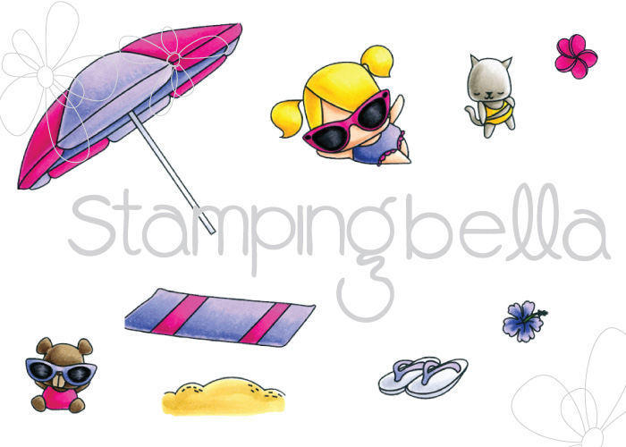 Stamping Bellar RELEASE PREVIEW SUMMER 2017- RUBBER STAMPS- THE LITTLES UMBRELLA SET