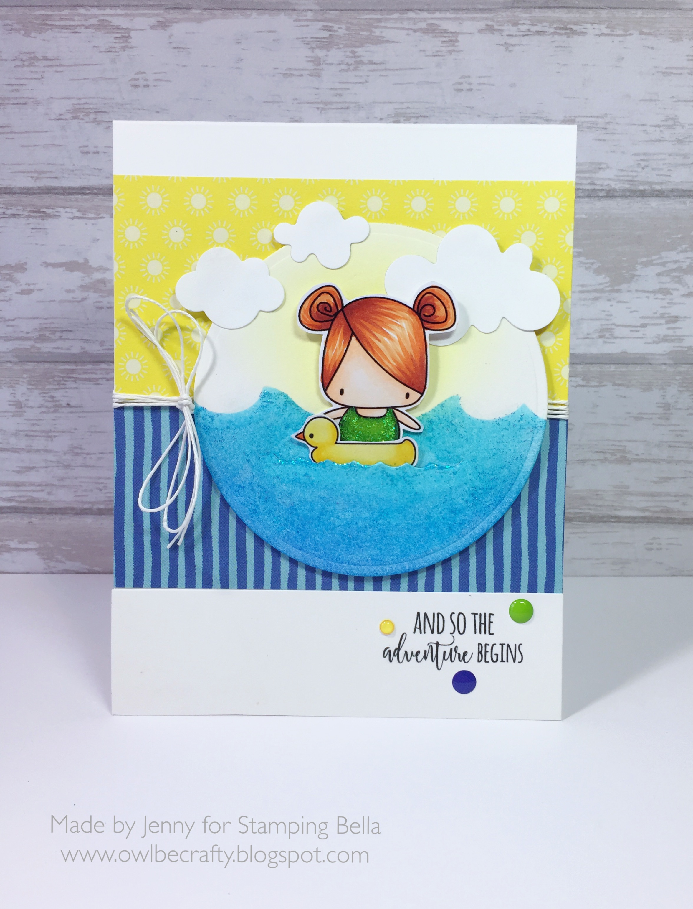 Stamping Bellar RELEASE PREVIEW SUMMER 2017- RUBBER STAMPS- THE LITTLES SNORKEL SET card by JENNY BORDEAUX
