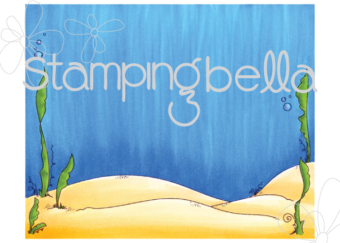 Stamping Bella SUMMER 2017 RELEASE- BEACH BACKDROP RUBBER STAMP