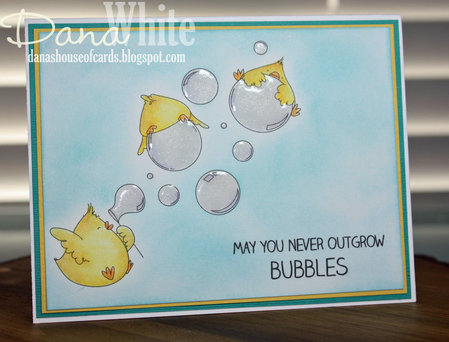 Stamping Bella SUMMER 2017 RELEASE: BUBBLE CHICKS rubber stamps. Card by Dana White