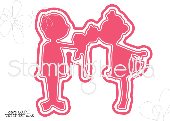 """Stamping Bella SUMMER 2017 RELEASE- CAVE COUPLE """"CUT IT OUT"""" DIE"""