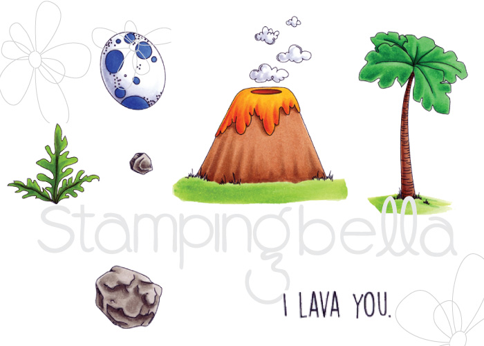"Stamping Bella SUMMER 2017 RELEASE- CAVE KIDS ""ADD ONS"" rubber stamps"