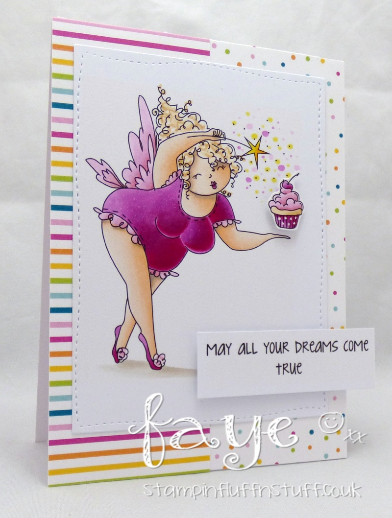 Stamping Bella SUMMER 2017 RELEASE: EDNA THE EVERYTHING FAIRY rubber stamps. Card by Faye Wynn Jones